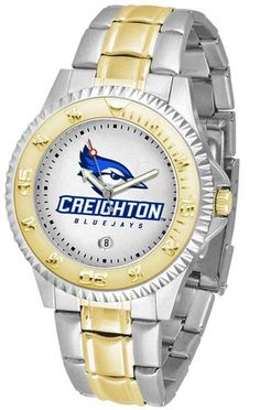 NCAA Men's Creighton University Bluejays Competitor Two-Tone Watch