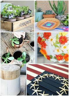 Repurposed Shelf Herb Garden Box {Summer Celebration}