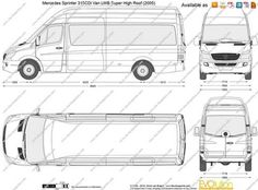 תוצאת תמונה עבור Mercedes Sprinter Van Dimensions