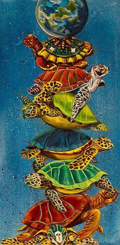 Susan Culver - Turtles All The Way Down Print