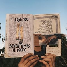I lose you, seven times a week. // art journal, writing, poem, illustration, lines, notebook, inspiration, aesthetics, collage //