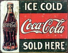 coca~cola vintage sign