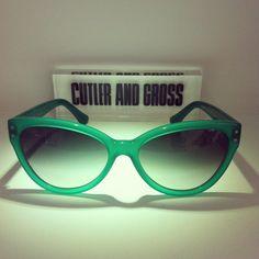 Cutler and Gross 0886 Green Apple @_sunglassisland @Clarissa Cutler AND GROSS #cutlerandgross #london #handmade #zeiss #sunglassisland #islascanarias #lapalma #sunglasses #eyewear www.sunglassisland.es