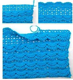 Oh my what a beautiful afghan stitch maybe doing the front post crochet in a lot of shell patterns is a way to go – Artofit Beau Crochet, Crochet Diy, Crochet Skirts, Love Crochet, Beautiful Crochet, Crochet Clothes, Crochet Ideas, Crochet Tutorials, Crochet Flowers