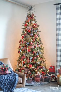 Mixing rustic and modern for Christmas decorating - Rustic Modern Christmas Tree