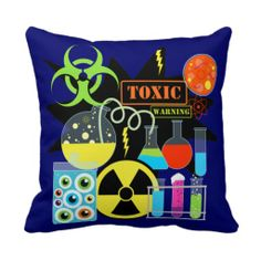 Mad  Scientist Throw Pillows