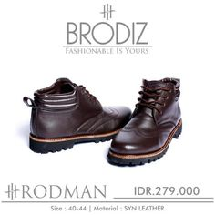 Brodiz Rodman, Warna: Brown, Size : 40-44. Untuk Pemesanan Online Kunjungi : www.rockford-footwear.com *Gratis pengiriman ke seluruh Indonesia Email: contact@rockford-footwear.com Pin : 525B26DF Atau...