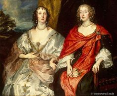 Anne Dalkeith Countess Morton and Anne Kirke, Ladies in Waiting to Queen Henriette by Anthonis van Dijck