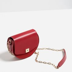 HPZara Leather Contrasting Mini Messenger Bag Olivia Palermo, Alexa Chung, Emma Stone Favorite Style  Limited Edition!!  ️️$110 through PayPal!  Product detail: • Ref#: 4354/104  • Color: Red • Height x Width x Depth: 17x 20 x 7 cm • Outer Shell: Main Material - 100% Polyurethane, Secondary Material - 100% Cow Leather,  Lining: 100% Polyester • Round bag • Contrast materials: leather and suede • Golden hardware • Shoulder strap with chain • Lining with pockets • Metallic closure • 100% BRAND…