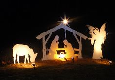 outdoor nativity sets for christmas | Outdoor Nativity Sets | Beautiful Customer Photos of their Christmas ...