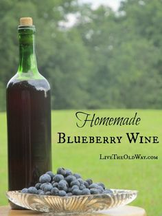 This Blueberry wine recipe can be made with fresh or frozen berries. The result is a pleasing semi-dry wine that no one will believe you made yourself! Homemade Wine Recipes, Homemade Alcohol, Berry Wine Recipe, Blueberry Wine, Different Types Of Wine, Strawberry Wine, Wine Magazine, Alcohol Recipes, Cocktails
