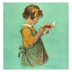 "Beautiful cards illustrated by Jessie Wilcox Smith. This illustration was featured in Good Housekeeping Magazine in the early 20th Century. Each card is 6 1/2 x 6 1/2"" and are blank inside. Price is f"