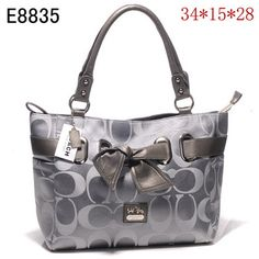 US4120 Coach Bow Tote&Shoppers E8835 - Silver 4120