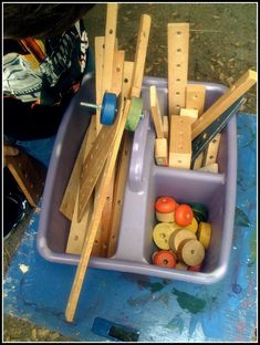 let the children play: ideas for a woodworking area at preschool