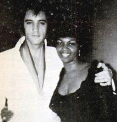 Elvis Presley and Cissy Houston (Whitney's mom) in 1968 Las Vegas