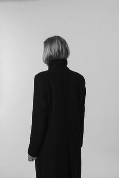 wool & silk / black & white.