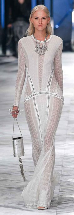 Roberto Cavalli Spring 2014, Milan Fashion Week #HauteCouture.....get it made as a cover up