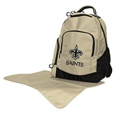 afa493534551a New Orleans Saints Trainer Backpack Diaper Bag from Team Sports. Click now  to shop NFL Children & Baby Diaper Bags.