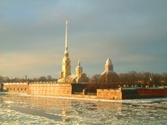 Peter and Paul Fortress, which holds the remains of the Romanov family, Catherine the Great and other Czars. St. Petersburg, Russia