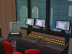 Shell Valley Radio Station Studio A, where the main programs of the radio happen. Sims 2, Furniture Decor, Recording Studio, Content, Drawing, Store, Inspiration, Biblical Inspiration, Storage