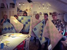 Learn to make a patchwork quilt. Here are our fantastic ladies with their finished quilts after completing a days workshop lead by our lovely tutor Meg. Dressmaking, Needle Felting, Workshop, Quilting, Jewelry Making, Paper Crafts, Gift Wrapping, Sewing, Crochet