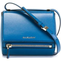 Givenchy Small Pandora Crossbody Bag ($1,790) ❤ liked on Polyvore featuring bags, handbags, shoulder bags, blue, blue shoulder bag, blue cross body purse, crossbody purse, crossbody handbags and givenchy handbags