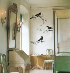These Positively haunting raven decals.Halloween Decorations You Can Leave Up All Year