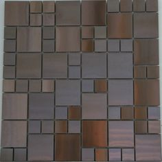 Glass and Tile Mosaics - Swiss Copper Mosaic Random, $15.95 (http://www.glassandtilemosaics.com/swiss-copper-mosaic-random/)