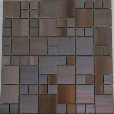 Glass and Tile Mosaics - Swiss Copper Mosaic Random, $15.95 (http://www.glassandtilemosaics.com/swiss-copper-mosaic-random/)