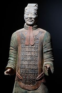 Standing ready for battle in their traditional uniforms, it is said that no two terracotta warriors resemble the other #Xian #China