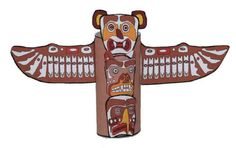 Toilet paper roll totem pole. This one actually looks like a real totem pole. No glitter!?!