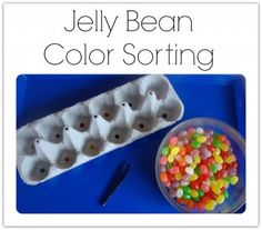 Jelly Bean Color Sorting - pinned by @PediaStaff – Please Visit  ht.ly/63sNt for all our pediatric therapy pins