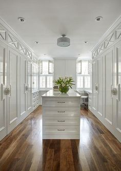 46 Ideas Walk In Closet Small White Built Ins Master Closet Design, Walk In Closet Design, Closet Designs, Dressing Room Closet, Dressing Room Design, Dressing Rooms, White Built Ins, Closet Island, Walking Closet