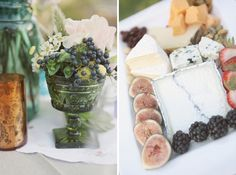 Food stuffs @ reception! The big piece is my favorite cheese ever! Humboldt Fog by Cypress Grove!