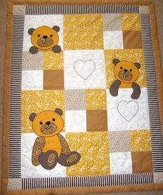Quilt Baby, Baby Girl Quilts, Girls Quilts, Cot Quilt, Children's Quilts, Quilting Projects, Quilting Designs, Boys Quilt Patterns, Patchwork Baby