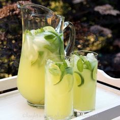Vodka Mint Lemonade Or Limeade Recipe Beverages with lime, mint, cold water, honey, vodka, ice cubes, lime slices