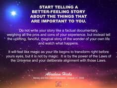 #abrahamhicks #betterstory #important