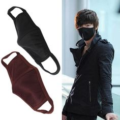 Unisex Cool Anti-Dust Outdoor Cotton Black Mouth Face Mask Protect From Dust Ash Viral Infection in Crowd Face Mask Respirator