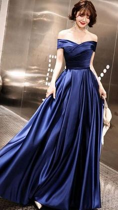 Blue Wedding Dresses, A Line Prom Dresses, Bridesmaid Dresses, Slip Dresses, Formal Dresses, Tulle Ball Gown, Ball Gowns, Long Party Gowns, Navy Blue Gown