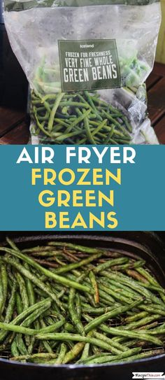 How to make the BEST EVER crispy green beans fries in the air fryer from frozen. Load them up with your favourite seasonings and you have a healthy alternative to air fryer fries. Air Fryer Recipes Snacks, Air Fryer Recipes Breakfast, Air Frier Recipes, Delicious Green Beans, Crispy Green Beans, Air Fried Green Beans, Cooking Frozen Green Beans, Air Fryer French Fries, Air Fryer Review