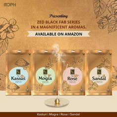 Enhance and elevate the aura around you and experience the divinity with pleasant and refreshing fragrances from Zed Black.  #ZedBlack #MDPH #fragrance #premium #FabSeries #IncenseSticks #prayer #PrarthnaHogiSweekar #Wednesday #aroma #divine #relax #scent #healing #meditation #yoga #aura #positivity #tranquil #mood #dhoop #dhoopsticks #amazon #online #shopping #rose #sandal #mogra Scent Sticks, Incense Sticks, Amazon Online, Product Catalogue, Healing Meditation, Temples, Fragrances, Wednesday, Prayer