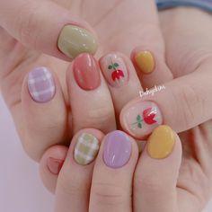 Pin on nails Pretty Nail Art, Cute Nail Art, Cute Nails, Korean Nail Art, Korean Nails, Minimalist Nails, Soft Nails, Simple Nails, Pastel Nails