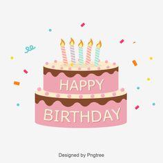 Cute Birthday Cake Logo vetor e png Happy Birthday Font, Happy Birthday Floral, Happy Birthday Balloon Banner, Happy Birthday Celebration, Unicorn Birthday Invitations, Cute Birthday Cakes, Birthday Cake With Candles, Colorful Birthday, Happy Birthday Images
