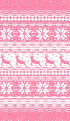 Pink Christmas fair Isle pattern