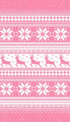 Pink Christmas fair Isle pattern
