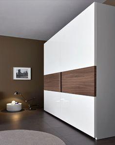 Placard con puertas combinado Blanco - Nogal Habano