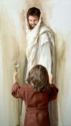 Did Jesus give you some pretty birthday flowers today? Jesus Christ Art Print In Return by Artist Jared by JaredBarnesArt Pictures Of Jesus Christ, Jesus Christ Images, Jesus Art, Jesus Images Hd, Jesus Christ Lds, Hd Images, Lds Art, Bible Art, Image Jesus