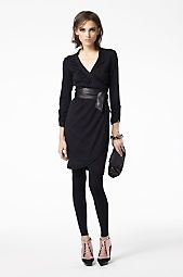 DVF Black Filoni Wrap Dress