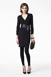 DVF Black Filoni Wrap Dress
