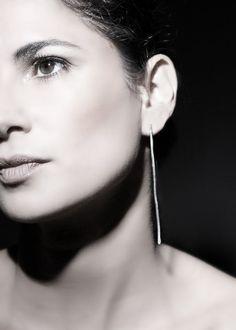 Sterling Silver Handmade Long Elegant Earrings by Gioiellibyliat, $55.00
